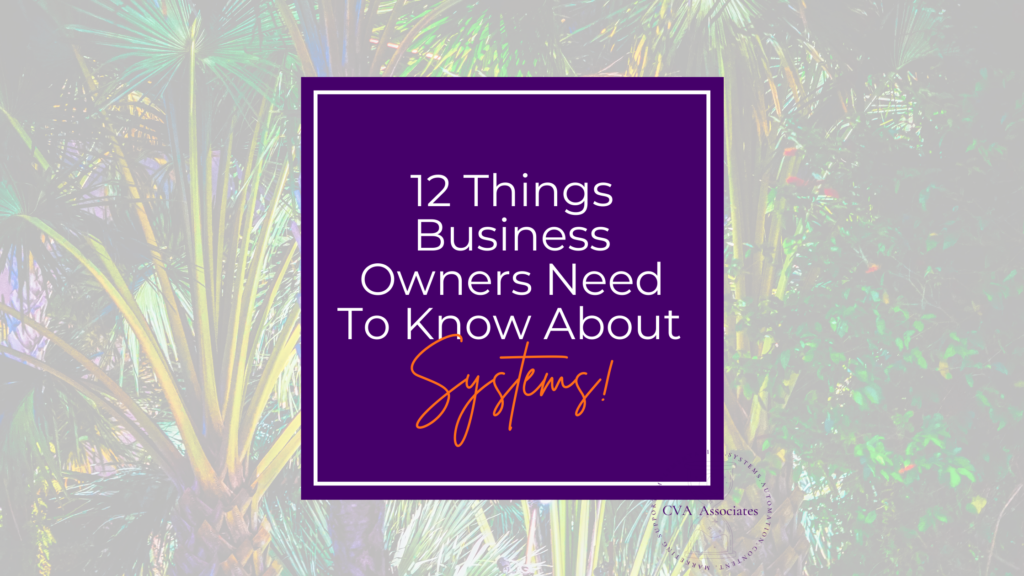 12 Things Business Owners Need To Know About Systems!
