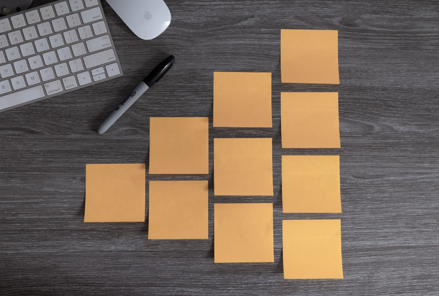 Picture of post its to symbolize learning and agile methods.