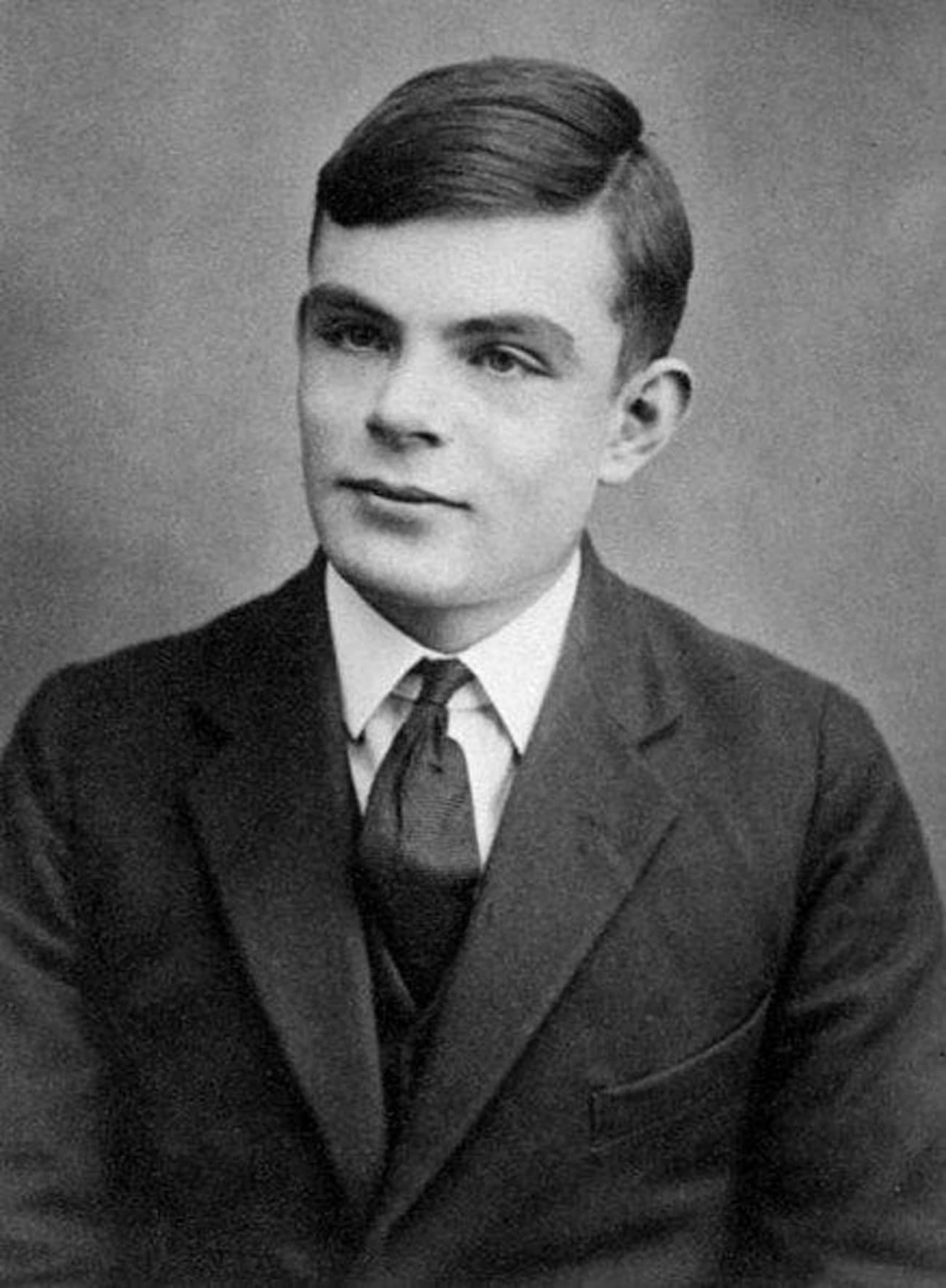 An undated portrait of computer science pioneer, Alan Turing