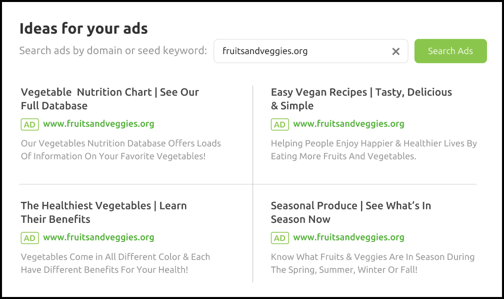 Ideas For Your Ads