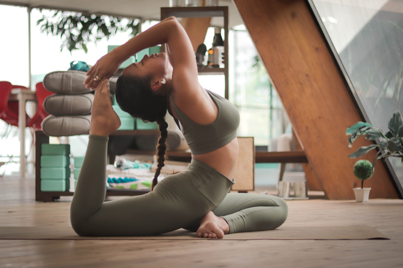 Girl in a yoga pose