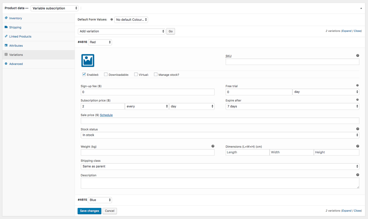 Variable subscription products in WooCommerce Subscription - migrate subscriptions