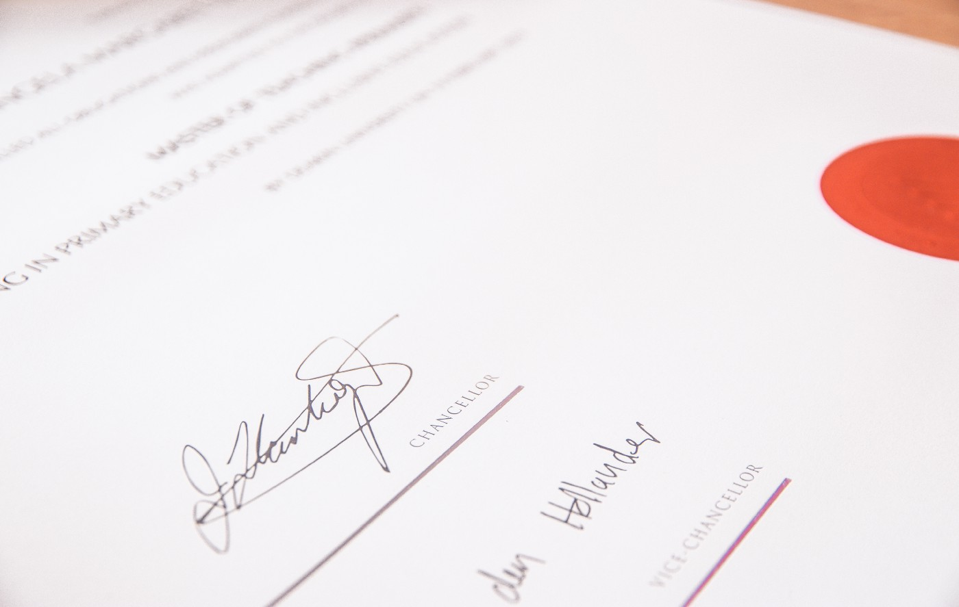 Sign on the dotted line.