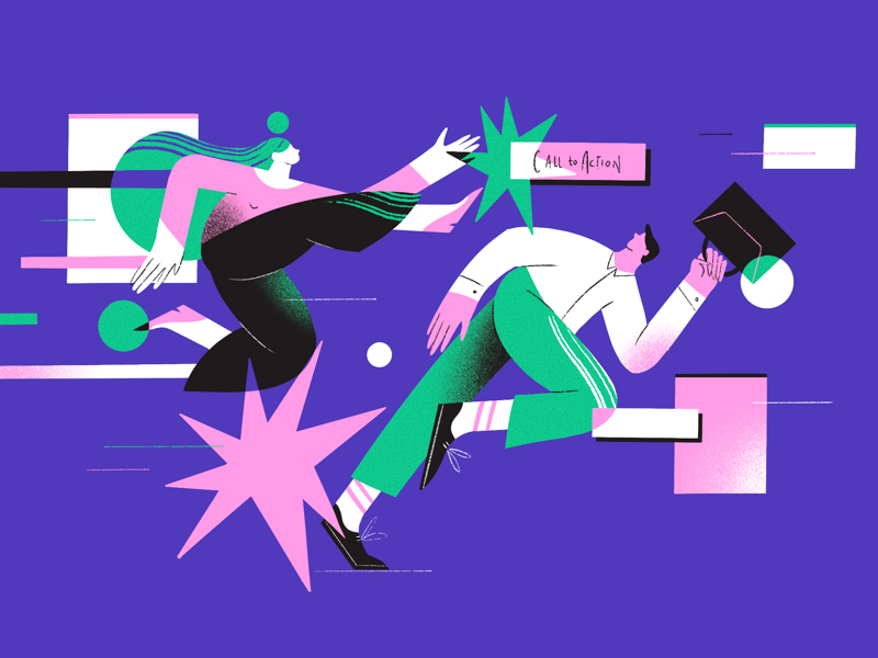 Illustration on conflict in workplace