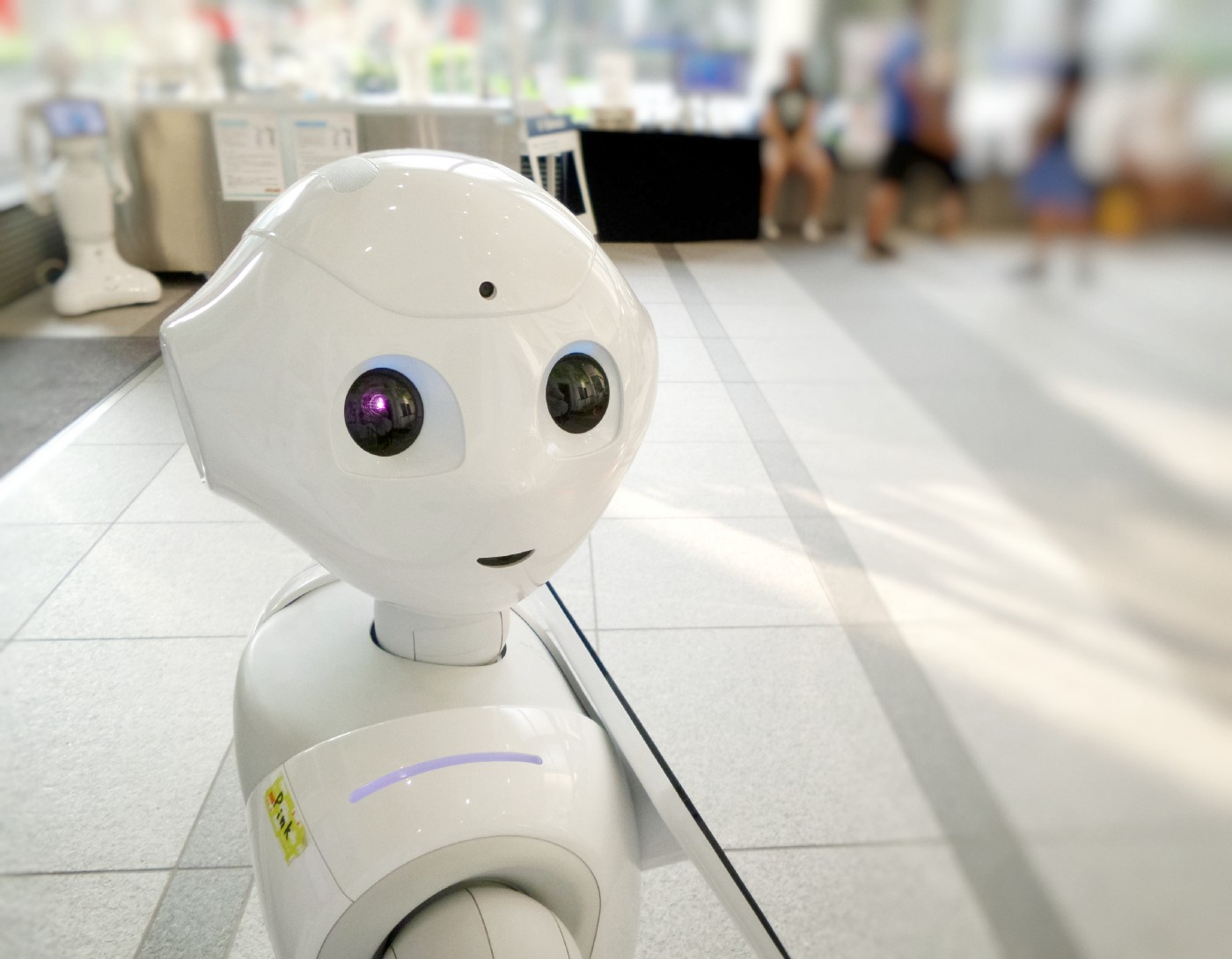Pepper the robot provides AI based customer service.