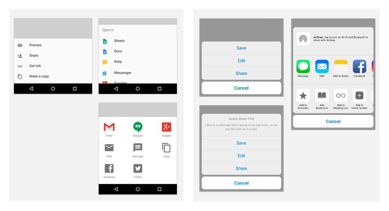 Differences between Designing Native iOS Apps and Native Android Apps