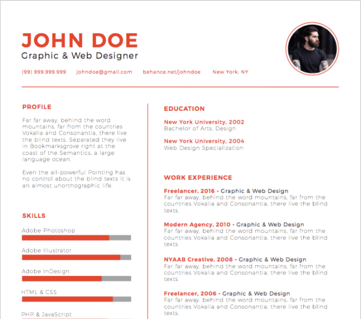 30 Best Free Illustrator Resume Templates in 2018 - GoSkills - Medium