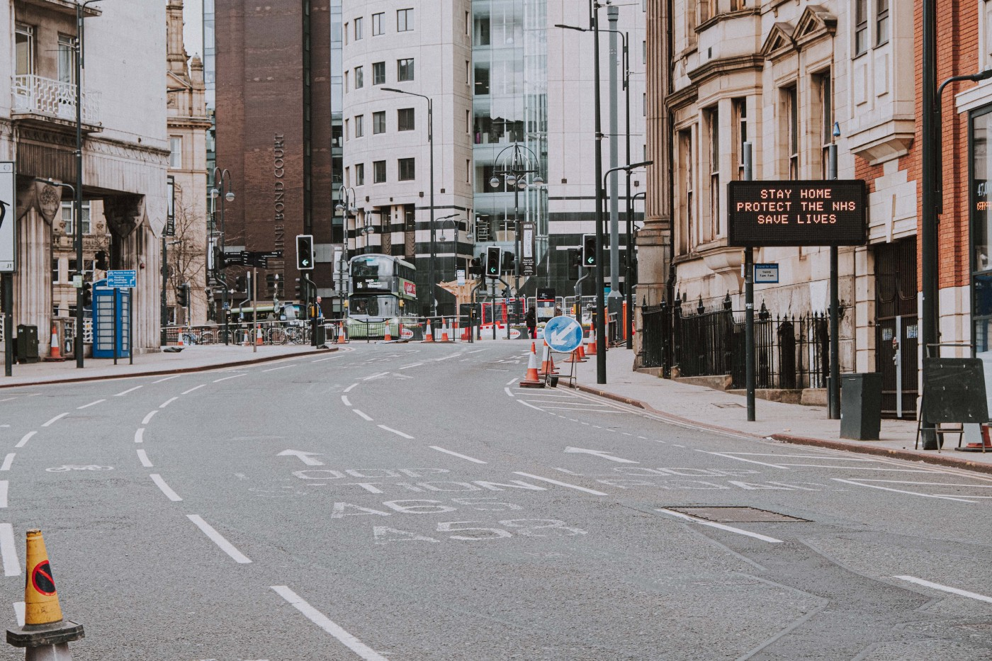 City streets are empty as lock-down measures limit the mobility and create new challenges for people with disabilities.