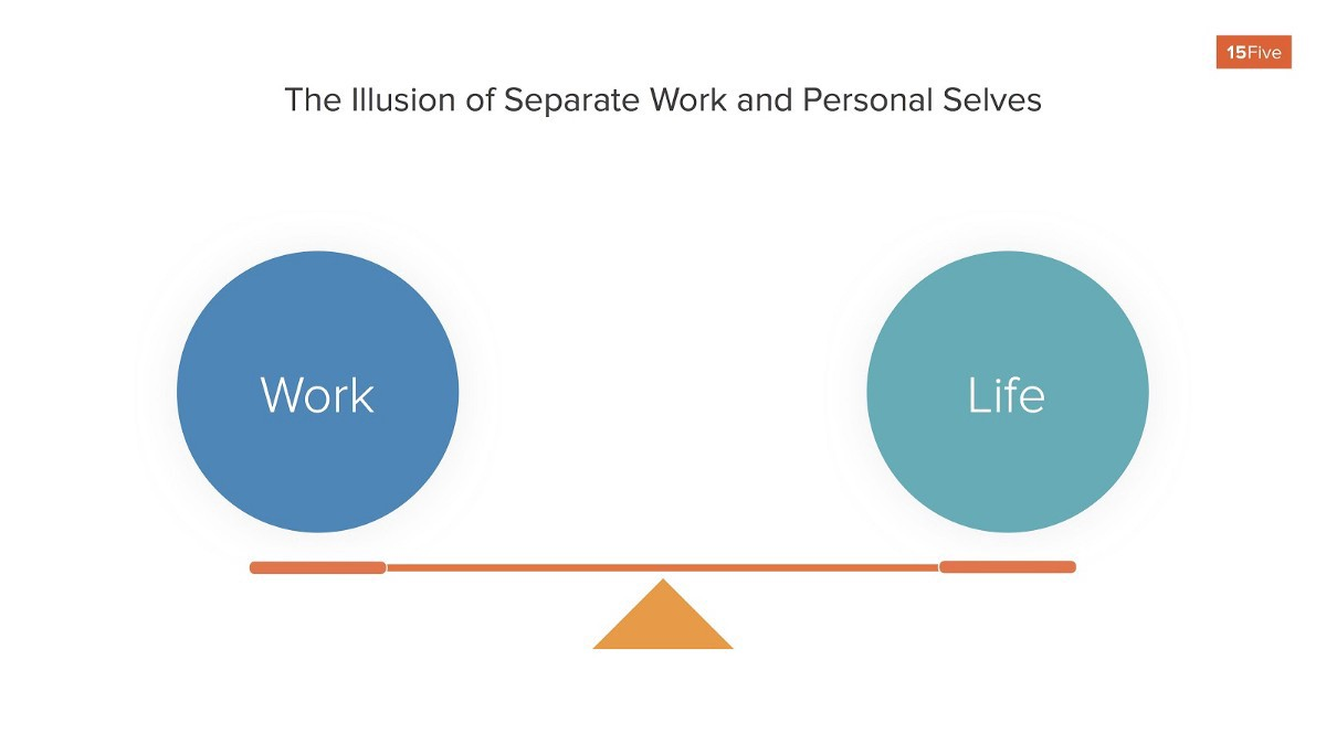 Illusion of separate work and personal selves looks like a seesaw