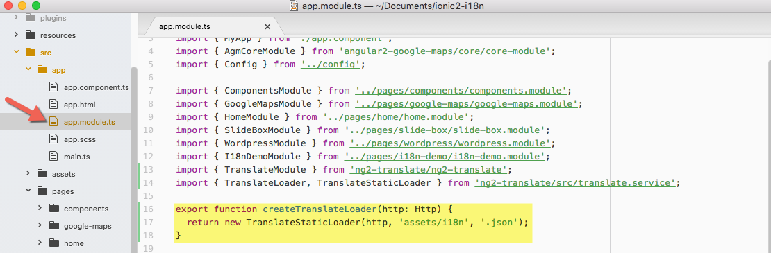 Internationalize and Localize your Ionic 2 Application