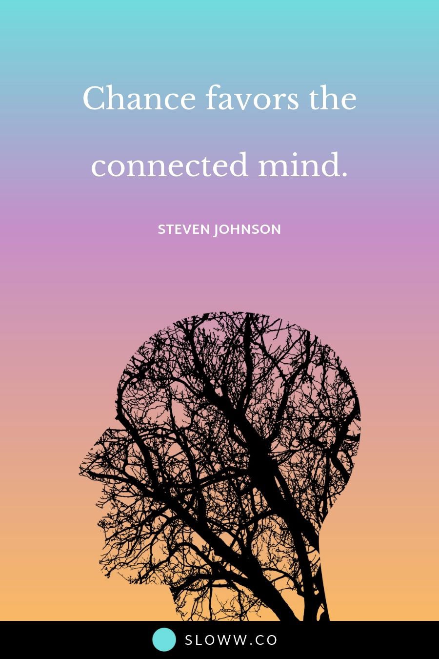 Sloww Combinatorial Creativity Connected Mind Quote