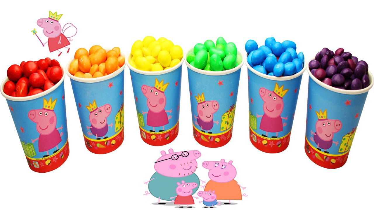 Learn Colors Peppa Pig With M Ms Candy Surprise Toys For Kids