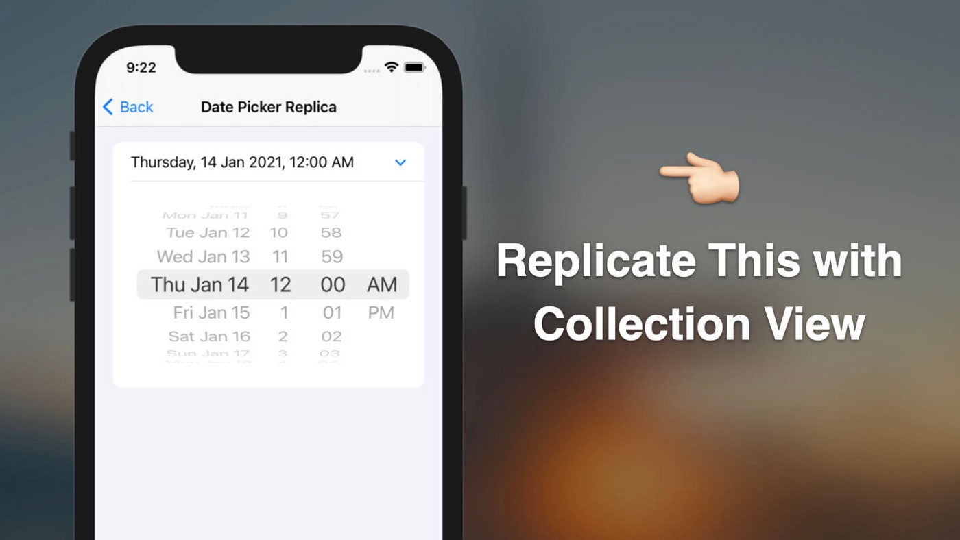 Replicate the Expandable Date Picker Using UICollectionView List