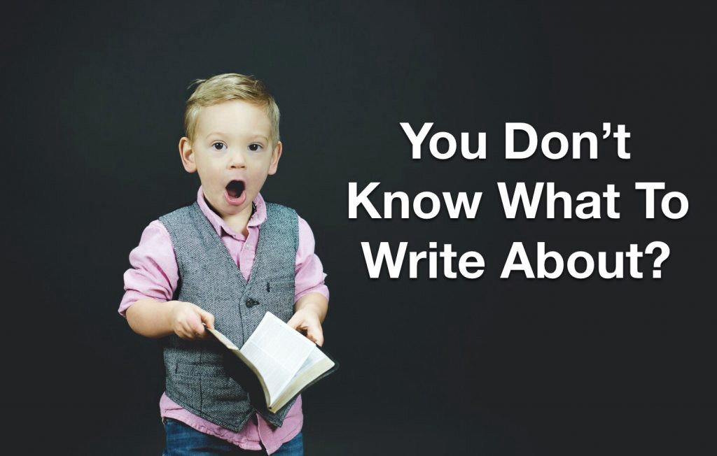 What Should You Write About