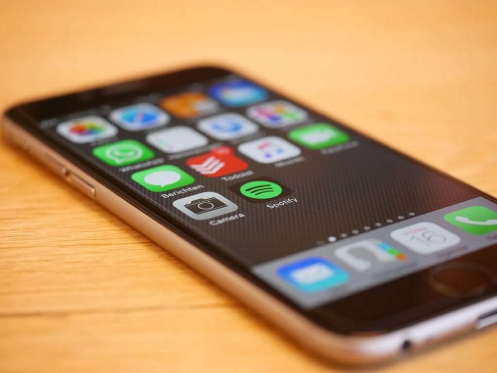 Smartphone with apps for file sharing and more