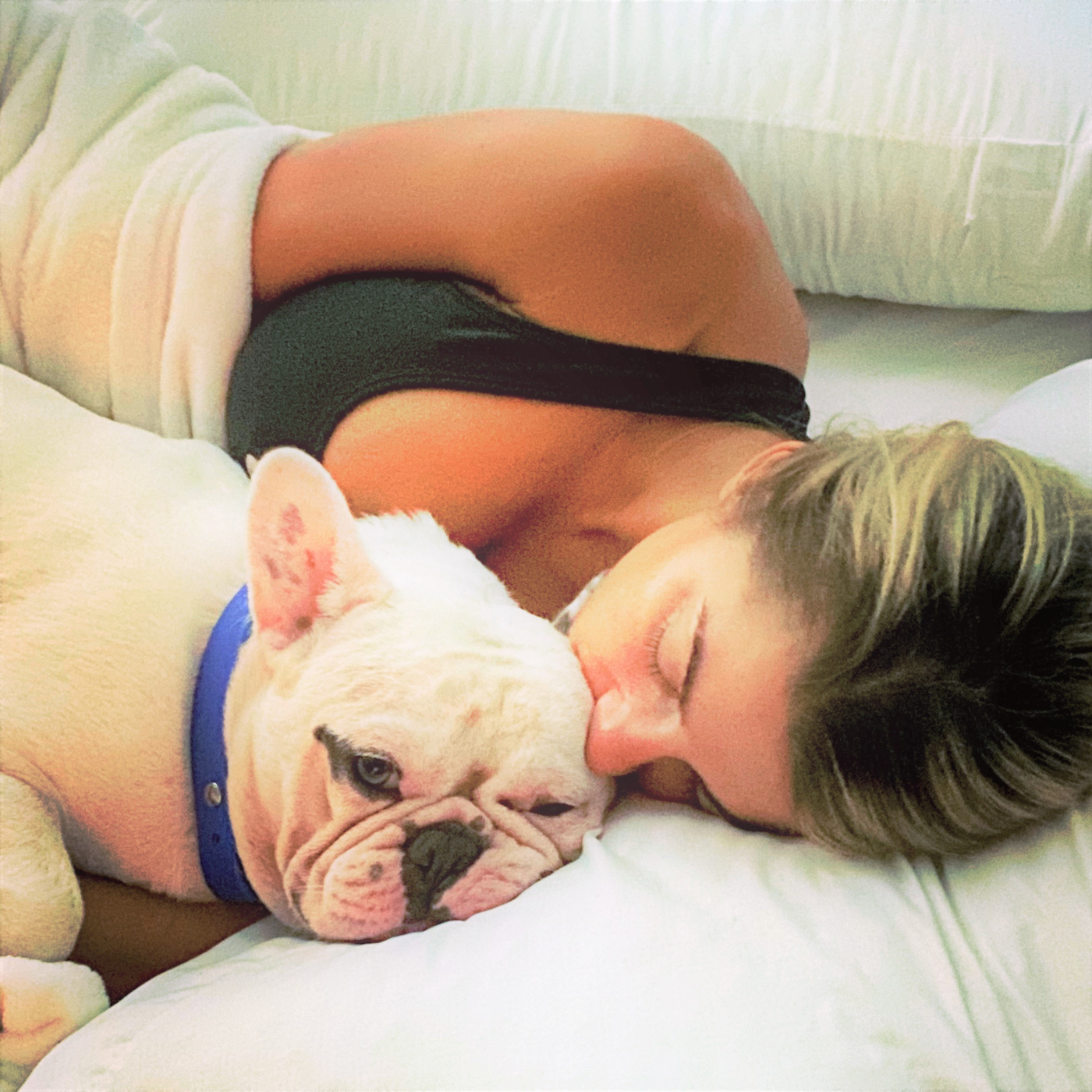 Jessica Rose Bocko with her pup
