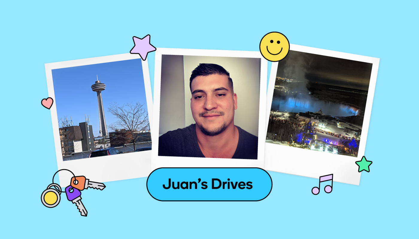 Wazer and Map Editor Juan took two road trips to Niagara Falls—one with his father, and one with his new fiancée.