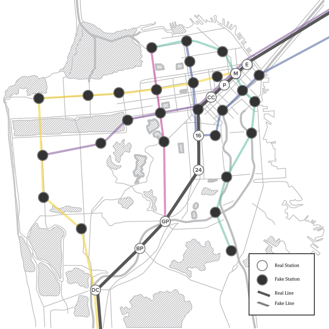 The BART Map of Our Dreams — The Bold Italic — San Francisco City Map Of San Go on