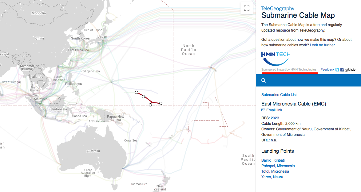 East Micronesia Cable (EMC) project dropped after US warns