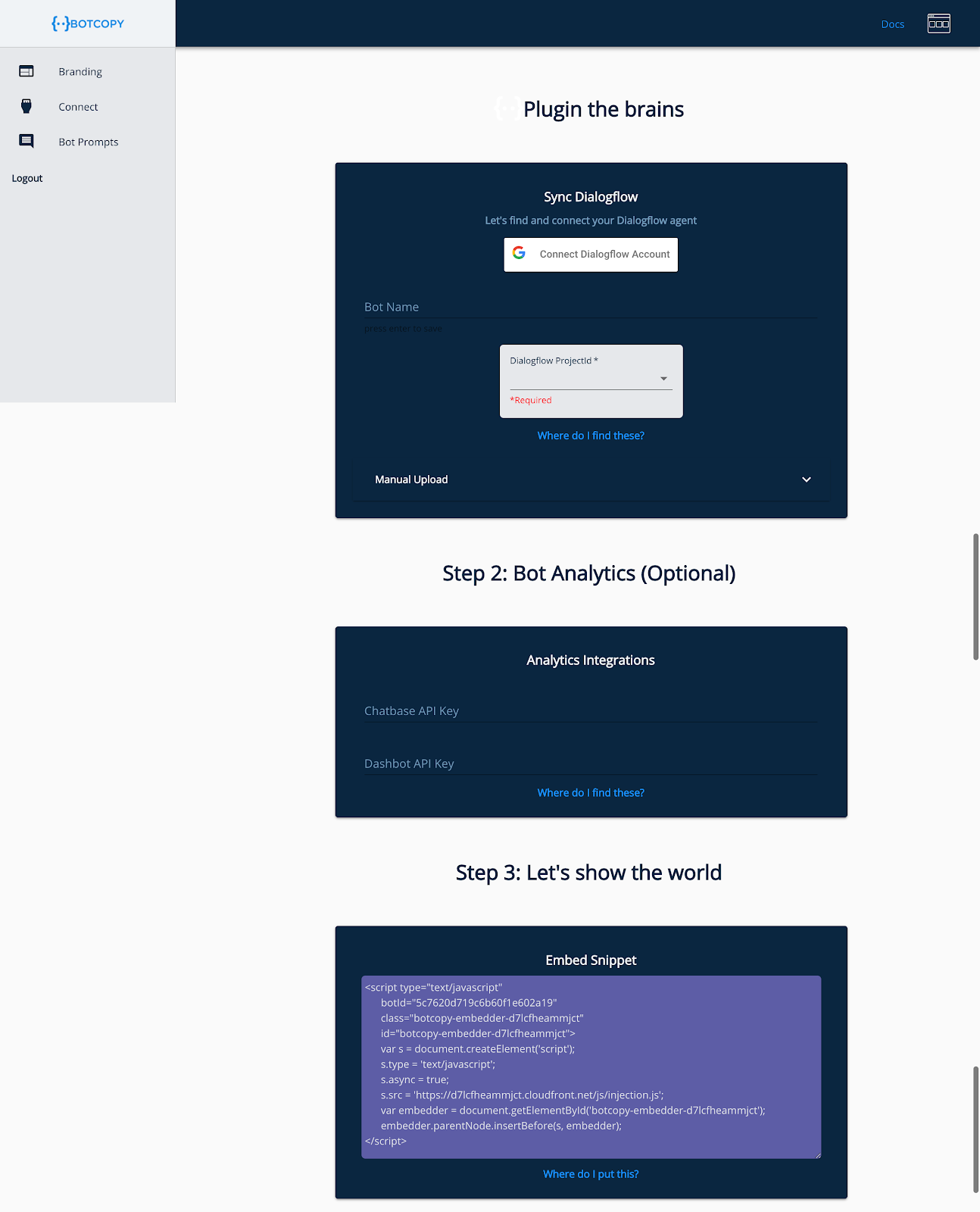 How to integrate Dialogflow into your website in minutes, not months