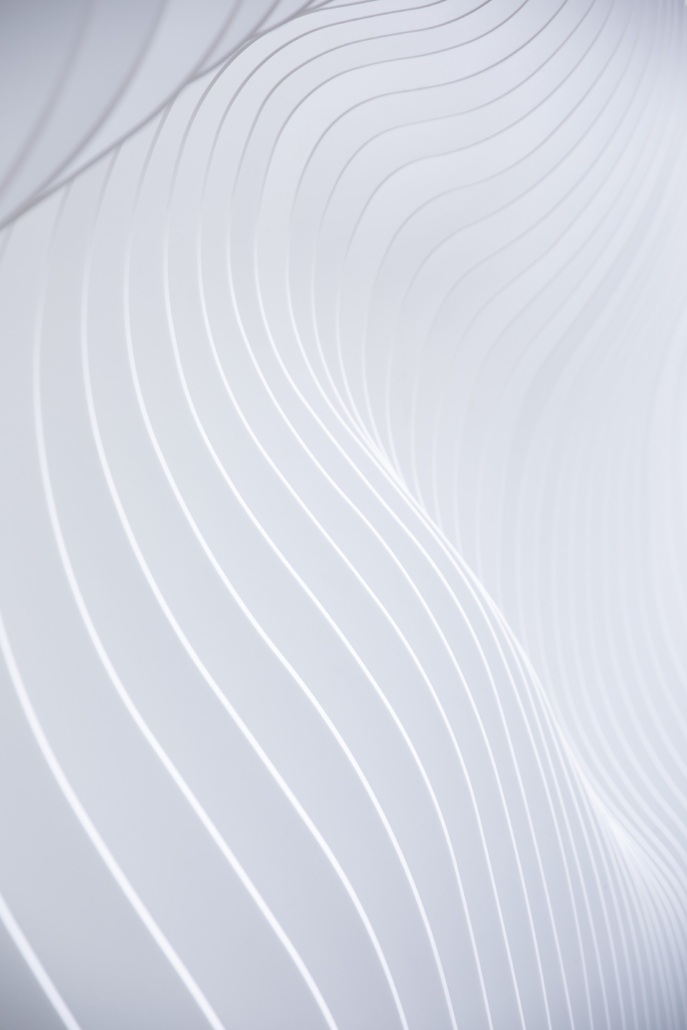 """Curved architectural white lines in textual layers as a visual metaphor to """"dynamic""""."""