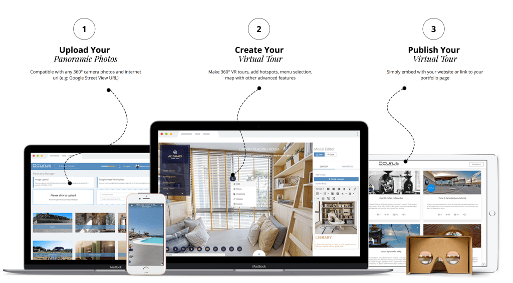 panoee - best free virtual tour software - processes