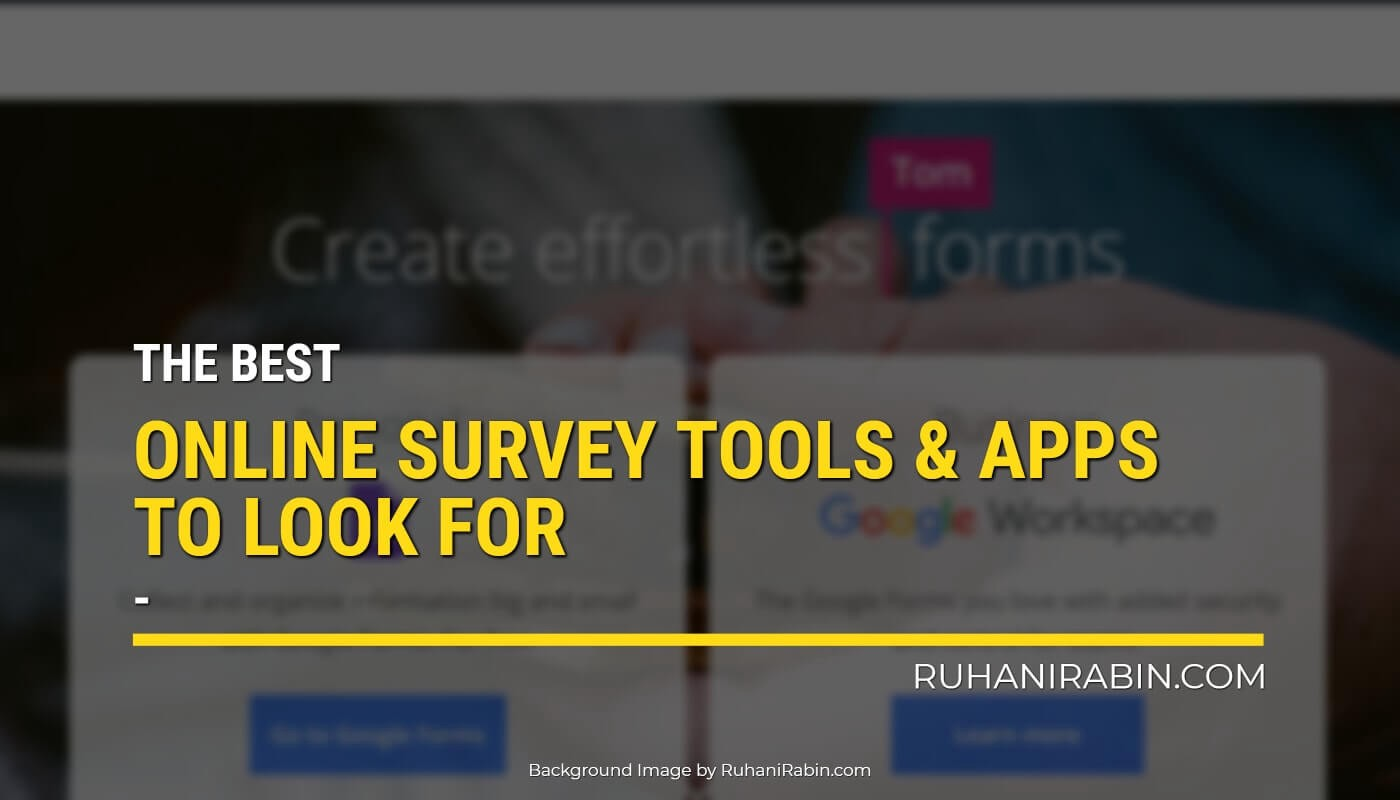 Best Online Survey Tools & Apps to Look for in 2021 Featured Image