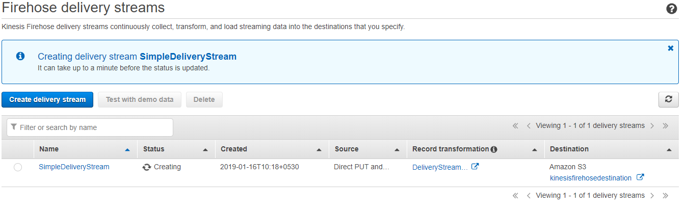 Delivering Real-time Streaming Data to Amazon S3 Using Amazon