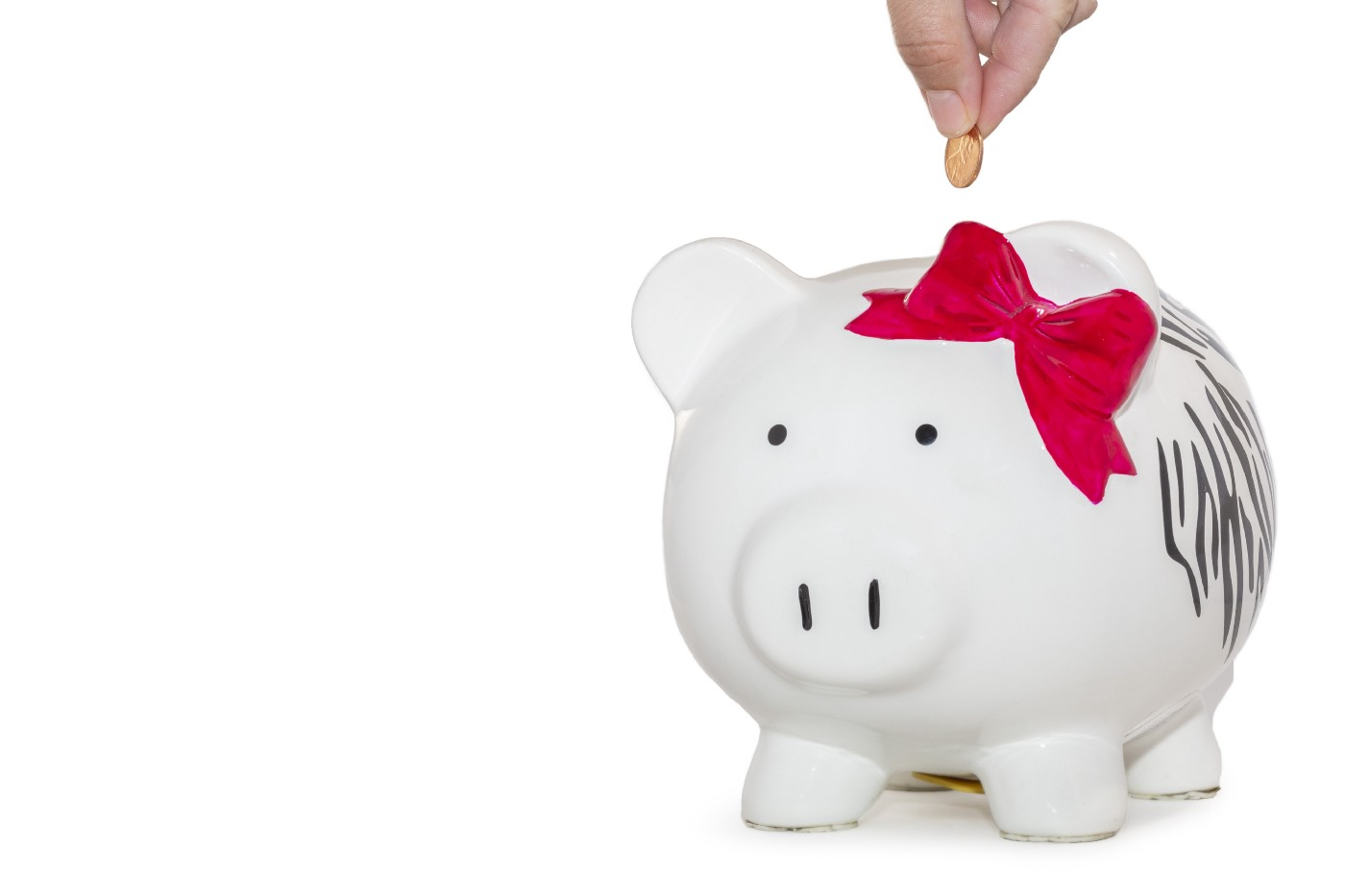 Savings is part of a household budget