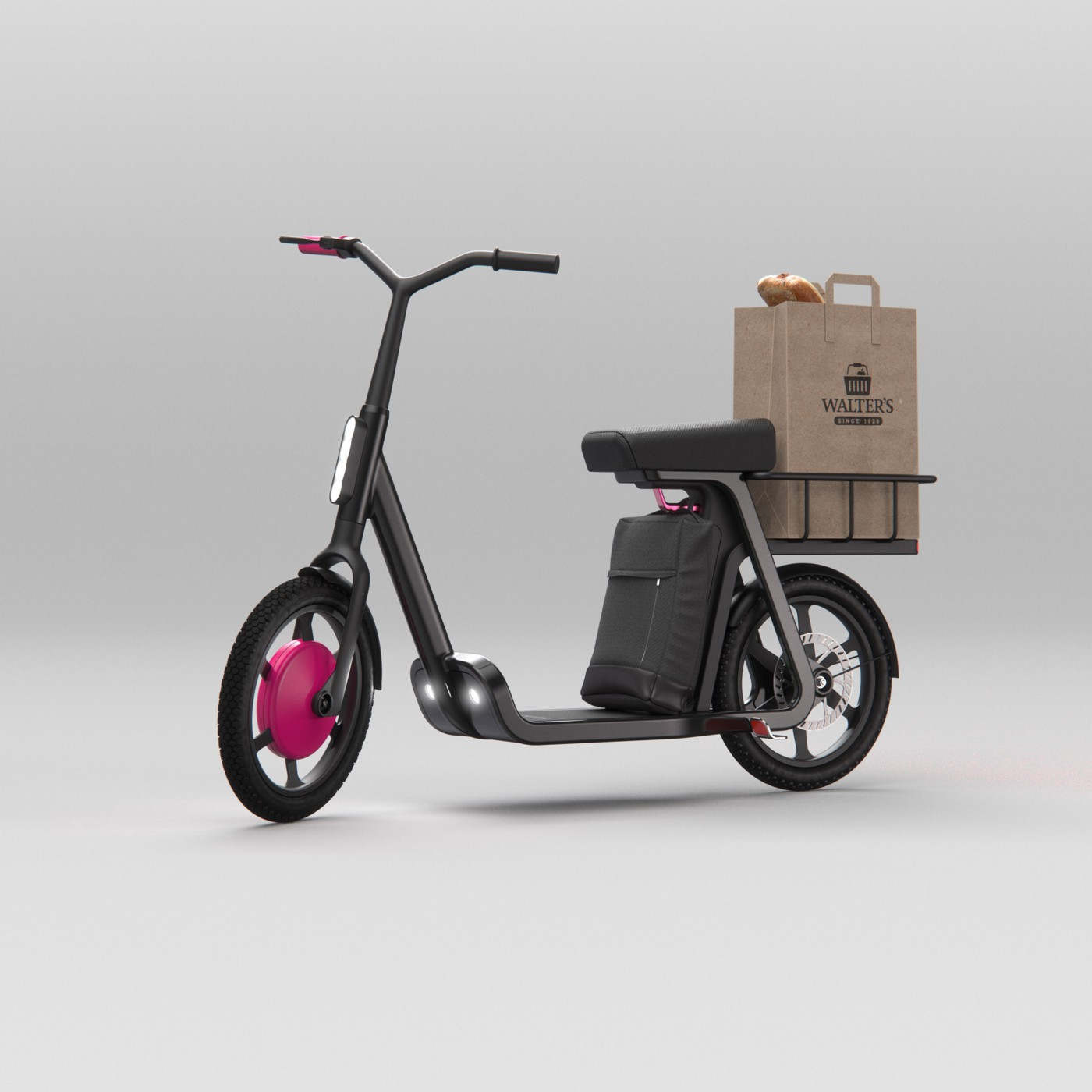 Proposed perfect eScooter of the Future by Teague, https://teague.com/insights/mobility/the-future-of-electric-shared-scooters