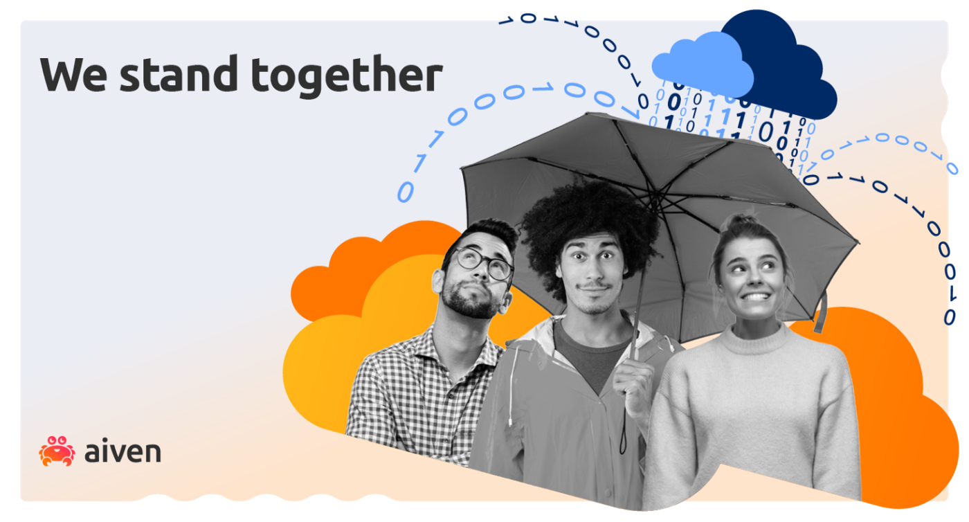 We all stand together under an umbrella of support for open source contributors