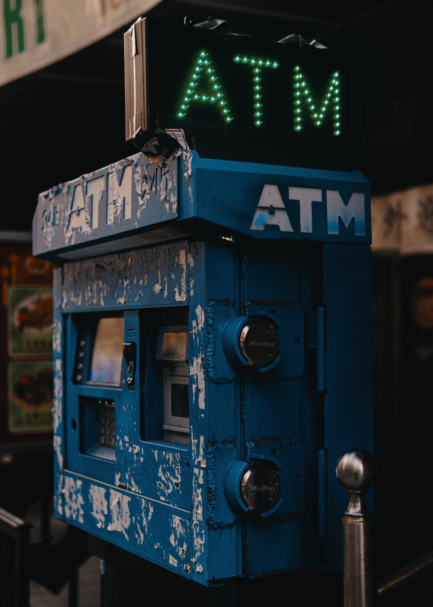 A picture of a worn out ATM machine. It's a symbol of where our nation is during the pandemic.