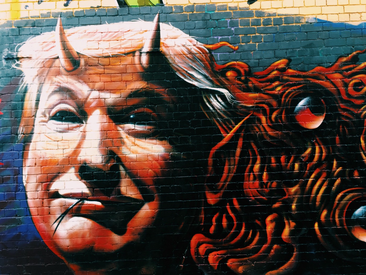 Image of Trump as the devil.