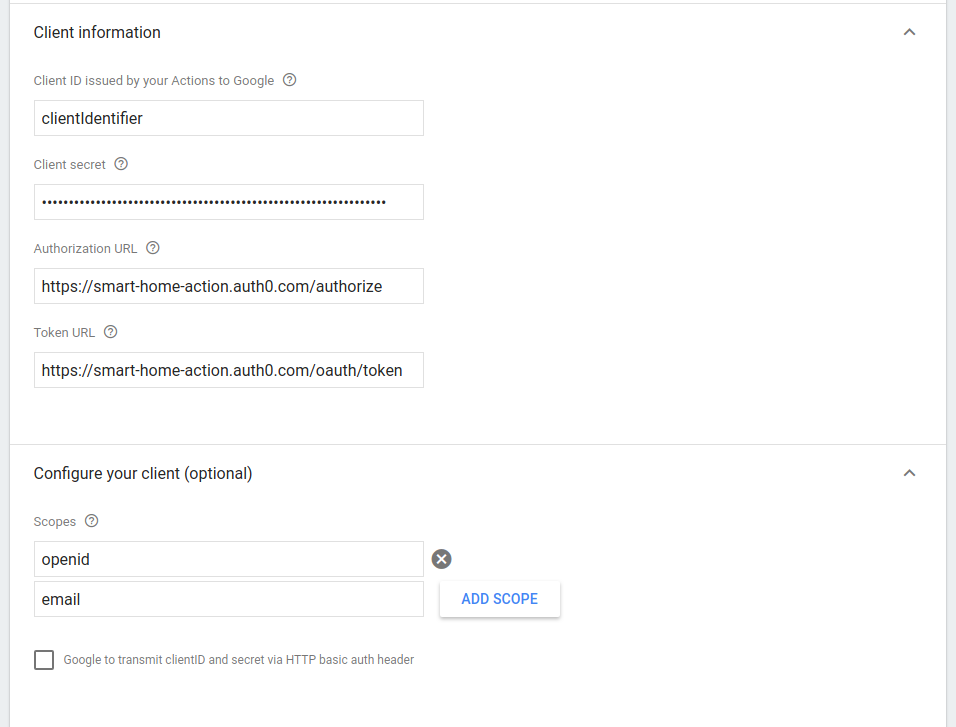 Authenticating smart home Actions for the Google Assistant with Auth0