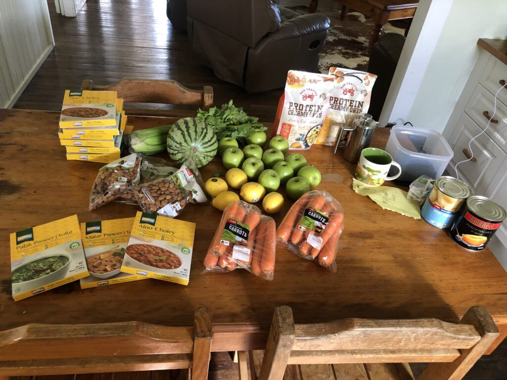 Food for a 10-day meditation retreat