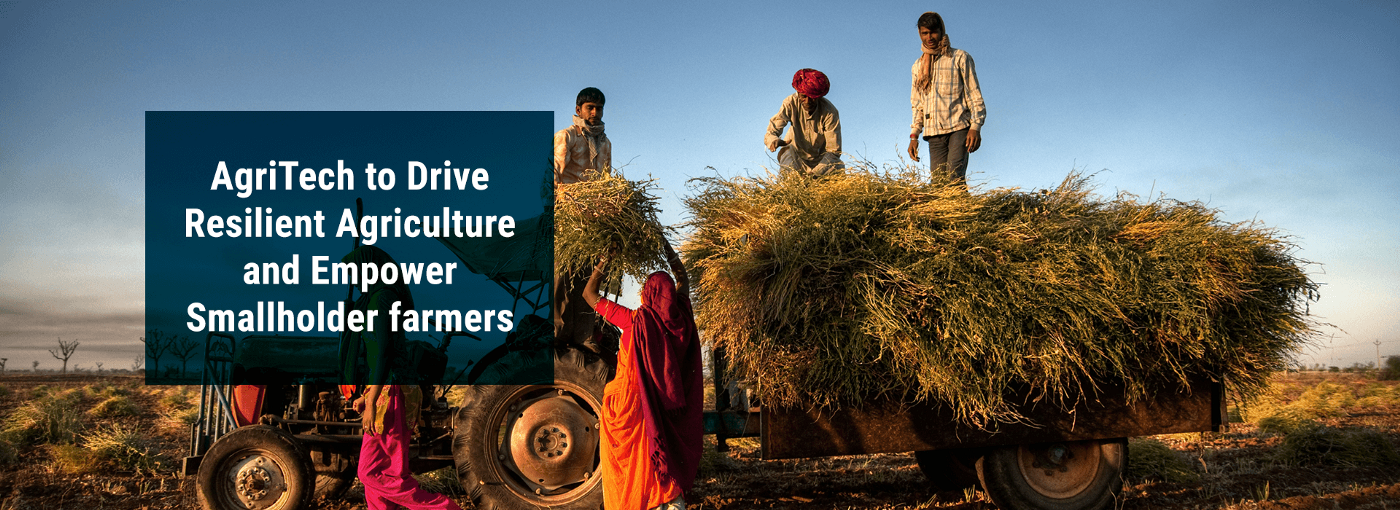 """Banner Image: """"AgriTech to Drive Resilient Agriculture and Empower Smallholder farmers"""""""
