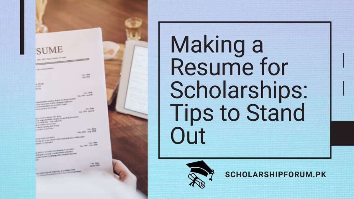 9 Best tips to build your resume for scholarships