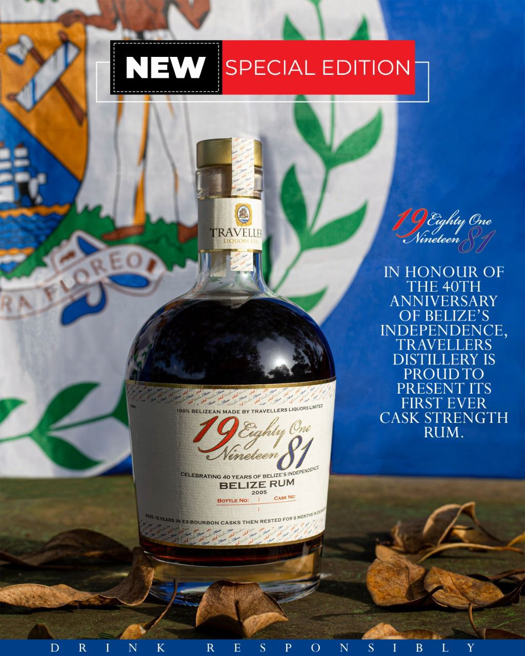 In celebration of Belize's 40th anniversary, Travellers has their new aged rum out: 1981 Limited Edition Rum