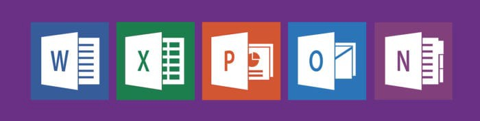 Microsoft Office icons including Word, Excel, PowerPoint, Outlook, and NotePad
