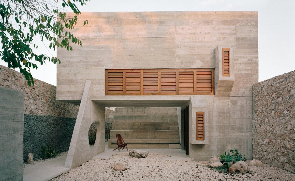A house with Brutalist architecture
