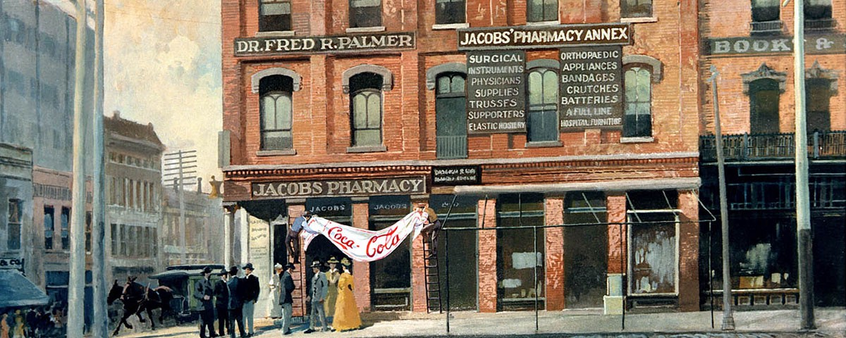 Jacobs' Pharmacy the first place Coca-Cola Went on sale in 1886