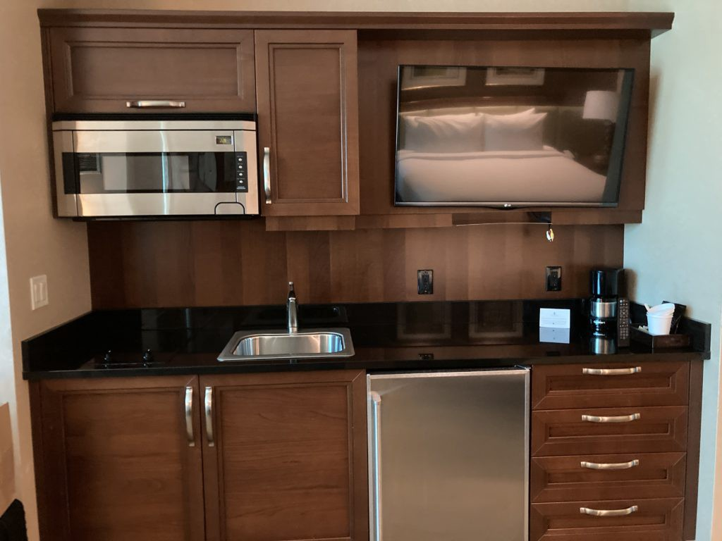 kitchen area in a The Signature at MGM Grand room