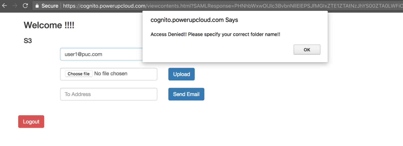 Share Files Securely Over Internet Using AWS Cognito and S3