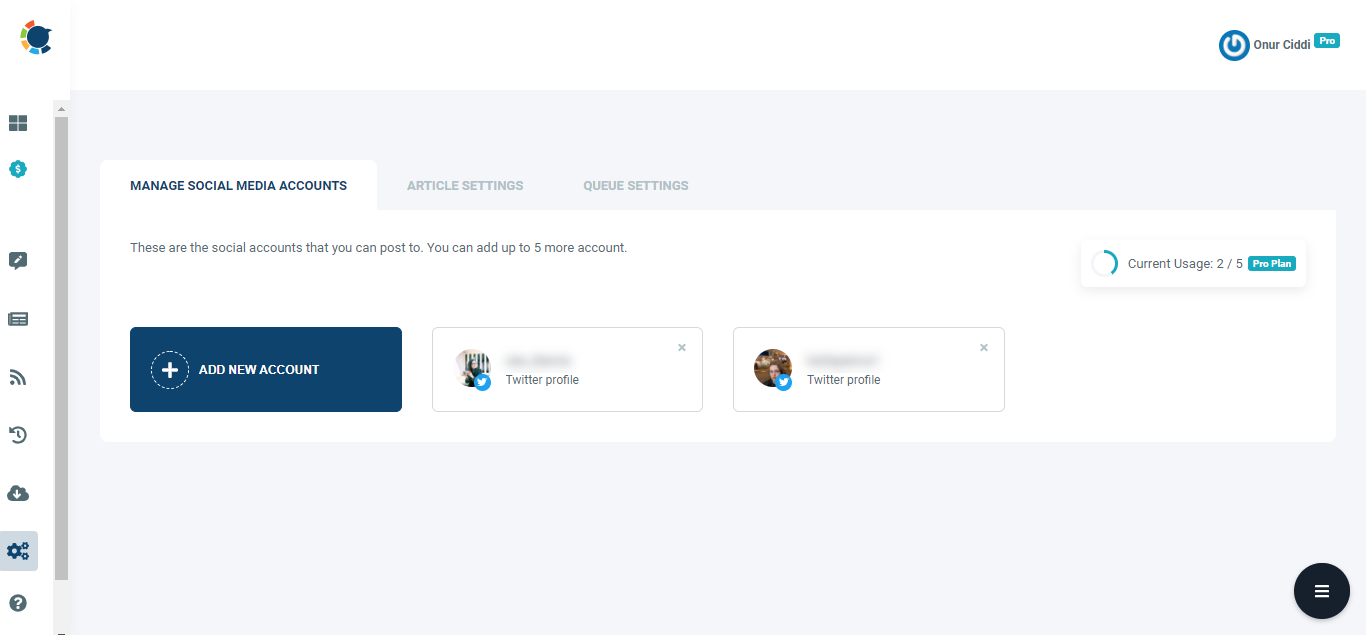It will only take few seconds to add multiple Twitter accounts on Circleboom Publish.