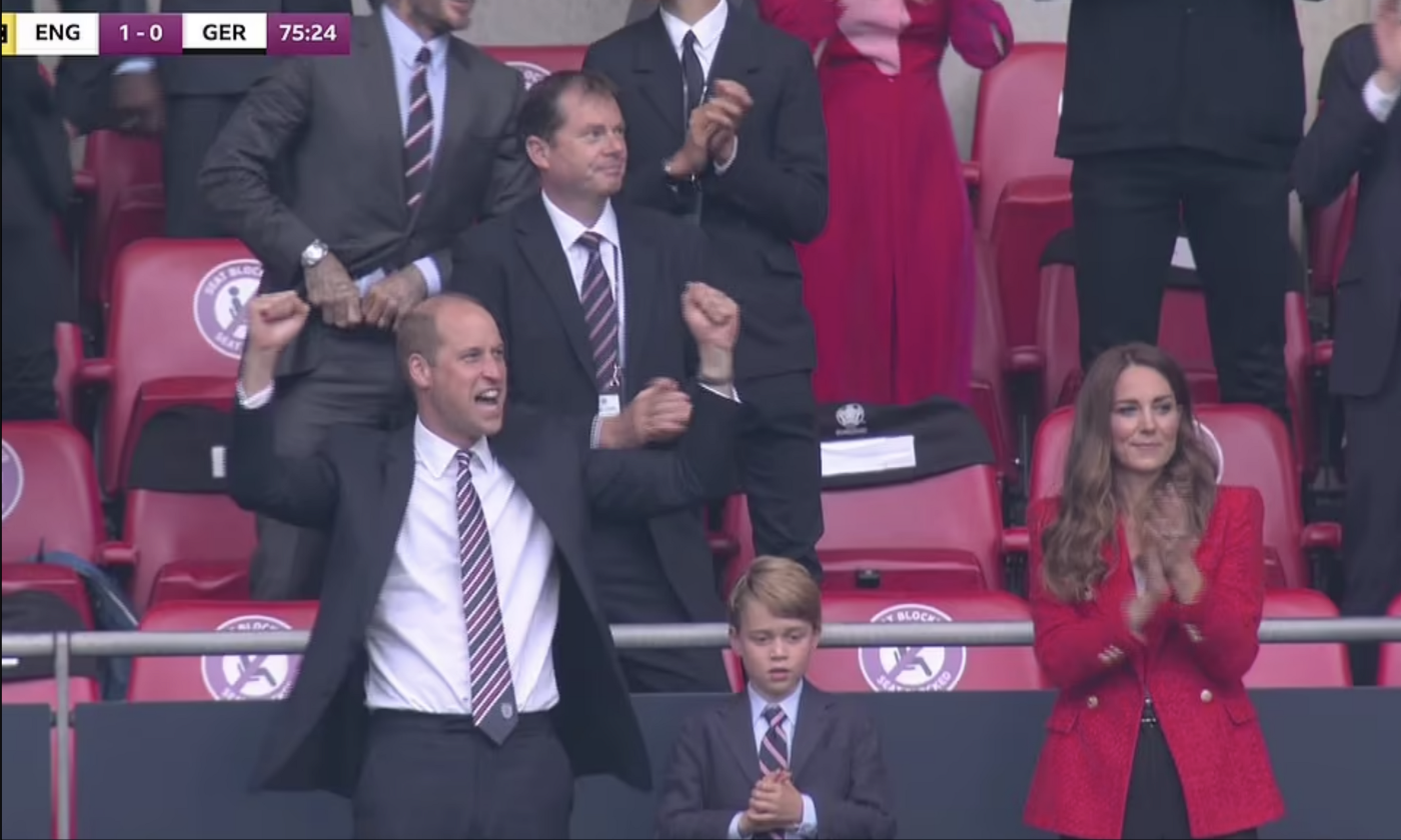 Euro 2020: Princes William and George and Kate Middleton watch England victory over Germany at Wembley