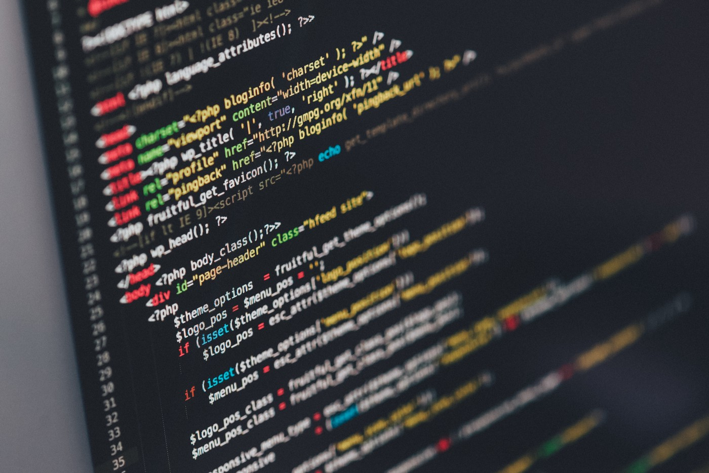 Generic stock photo of code on a laptop screen