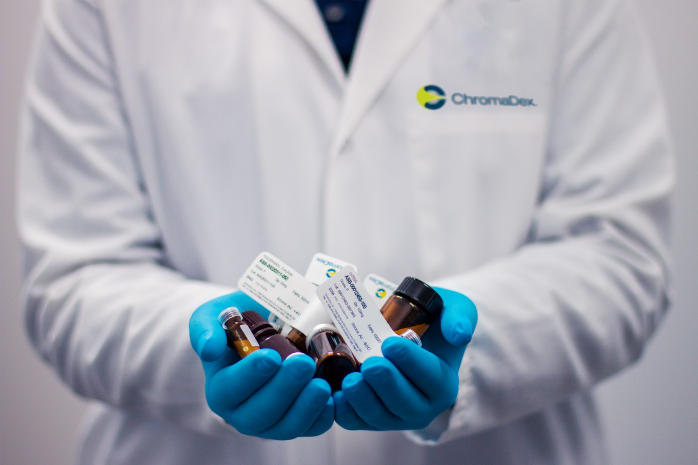Physician offering a choice of drugs