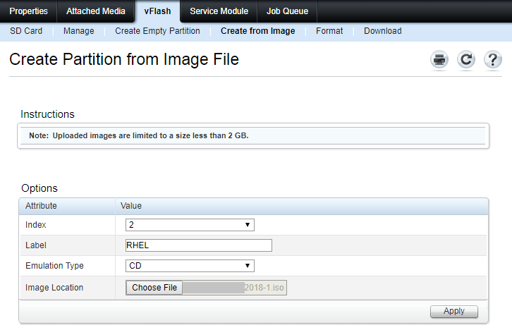 Boot from image using vFlash in Dell PowerEdge Servers