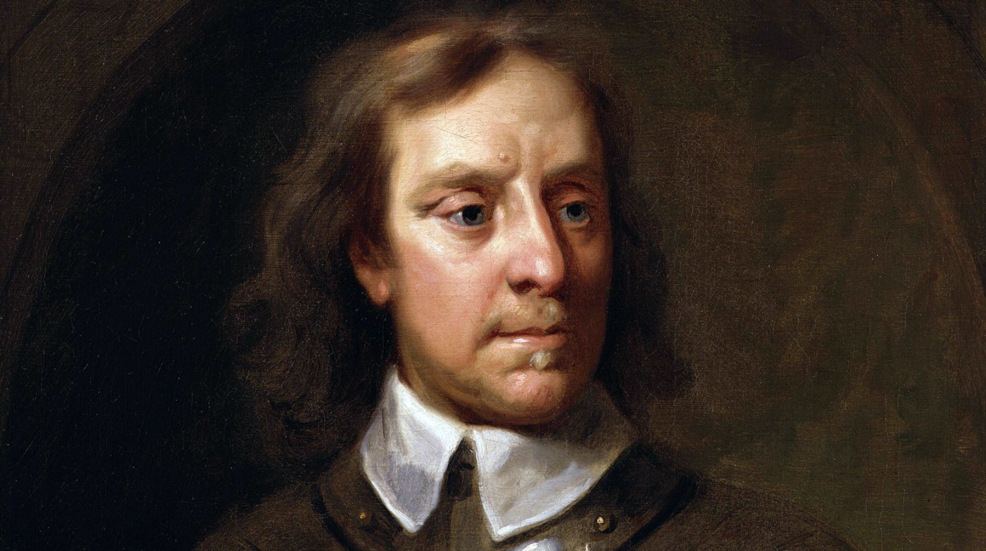 Pictured: An oil painting of Oliver Cromwell.