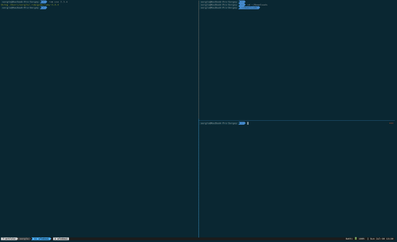 Recreate your tmux session with all the windows and panes you need